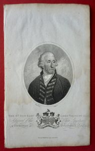 Antique Engraving Print, The Hon. Sam.l Lord Viscount Hood, 1804