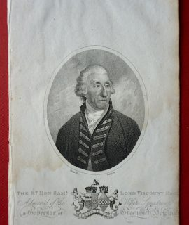 Antique Engraving Print, The Hon. Sam.l Lord Viscount Hood, 1804