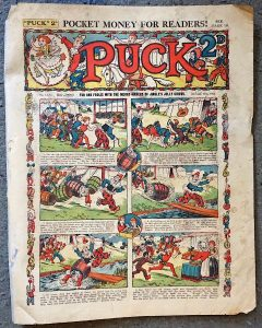 Rare Vintage Puck 2, Pocket Money For Readers! October 13th, 1934