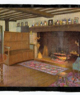 Vintage Drawing, House Interior, 1940-50 ca.