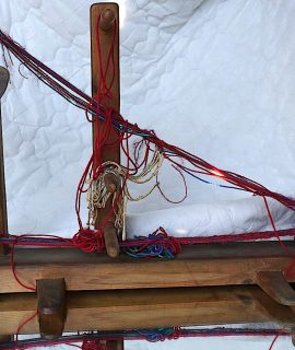 Rare Handmade Antique Rustic Wooden spinning-machine