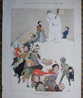 Vintage Print, The Badly-Behaved Snow-Man, 1901