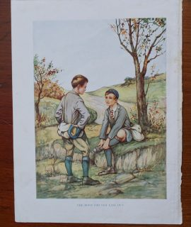 Rare Vintage Print, The Boot did not last out, 1909 ca.
