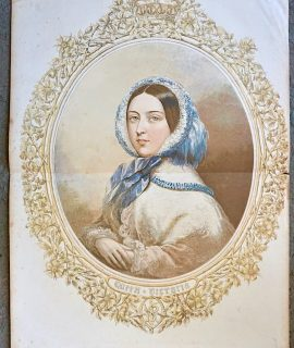 Antique Print, Queen Victoria, 1857