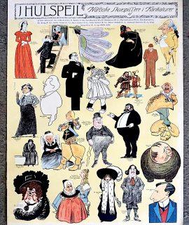 Rare J Hulspejl Nordiske Skuespillere i Karikaturer, 1934 ca.