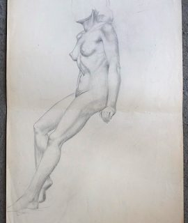 Original Vintage Large Drawing, 1940 ca.