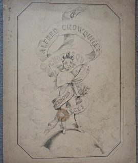 Rare Antique Print, Alfred Crowquill's, Grotesque, Christmas Pieces, 1844 ca.