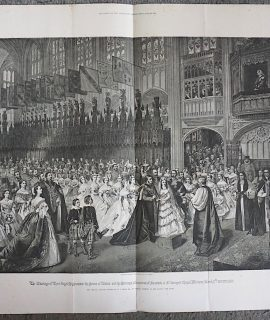 Antique Print, The Marriage of their Royal Highnesses the Prince of Wales..., 1888