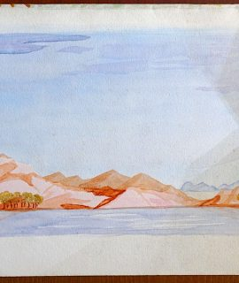 Vintage Watercolor, Landscape, 1930 ca.