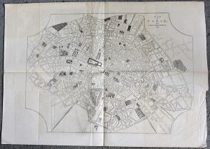 Antique Paris Map; Reception oh her Majesty by the Emperor at Boulogne, 1855