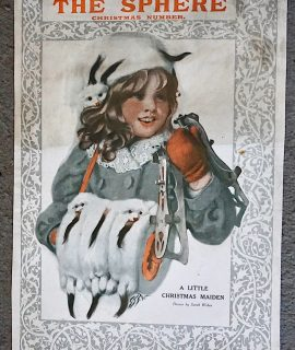 Vintage Art Cover Print from The Sphere, Christmas Number, 1910