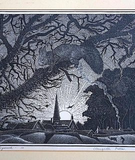 Original Wood Engraving, The Squirrel, Claughton Pellew, 1931