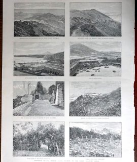 Antique Print, Ascension Island, 1888