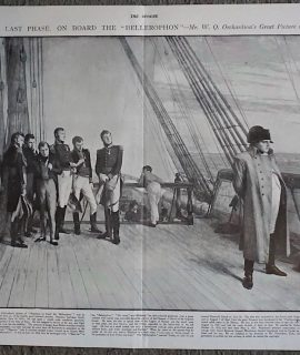 Vintage Print, Napoleon the Last Phase on Board the Bellerophon, 1900