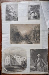 5 Antique Engraving Prints and 1 Lithograph