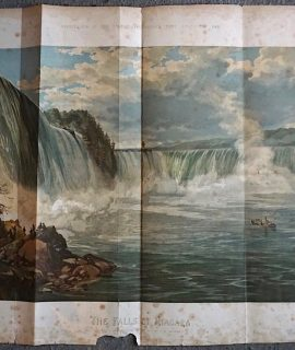 Antique Large Print, The falls of Niagara, 1860