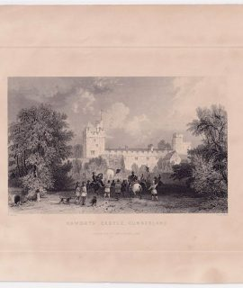 Antique Engraving Print, Naworth Castle, Cumberland, 1844