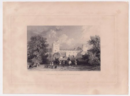 Antique Engraving Print, Naworth Castle, Cumberland, 1844