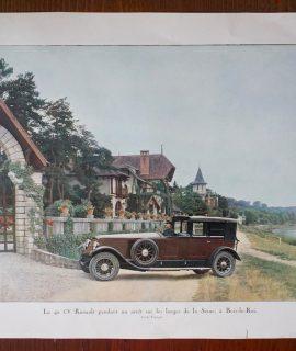 Vintage Print, La 40 CV Renault à Bois-le-Roi, 1920 ca.