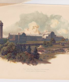 Vintage Print, The Crystal Palace, Sydenham, 1890 ca.