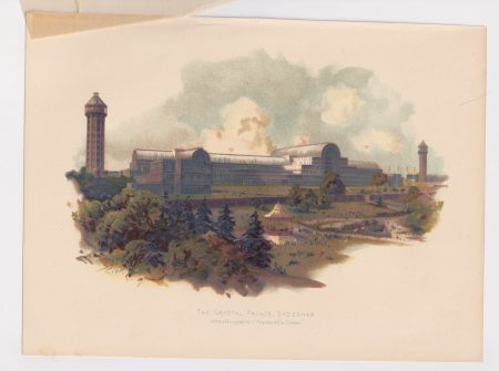 Vintage Print, The Crystal Palace, Sydenham, 1890 ca.