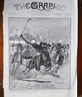Vintage Print, An Exhibition by Manipur Polo-Players, 1903