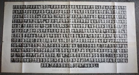 Rare Antique Print, Members of the New House of Commons, 1895