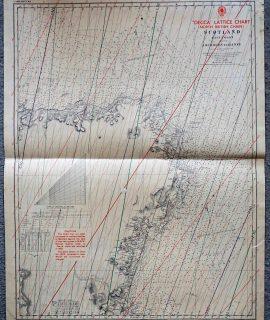 Decca Lattice Chart (North British Chain), Scotland, 1951