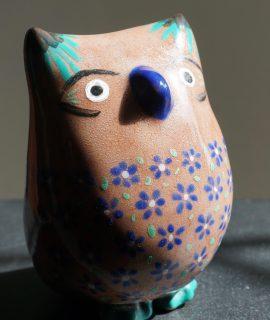 Vintage Handmade Signed Terracotta Owl