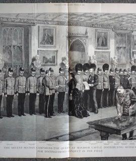 Antique Print, The Recent Soudan Campaigns... 1886