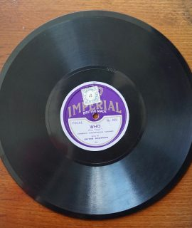Imperial, Who; Bye Bye Blackbird, sung by Irving Kaufman, 1926