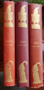 Punch, Jan-June 1931; July-Dec. 1931; July-Dec. 1923; Hard Cover books