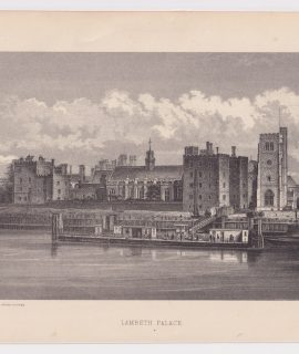 Antique Print, Lambeth Palace, 1878