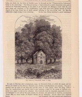 Antique Print, Old Conduit, Greenwich Park, 1878