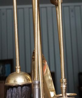 Vintage Brass Fireplace set