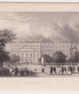 Antique Engraving Print, Hampton Court, 1830