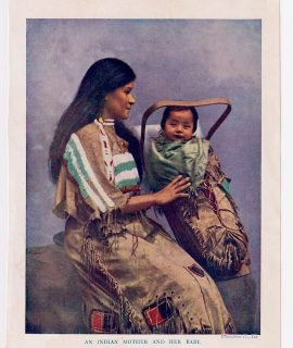 Vintage Print, An Indian Mother and her Baby, 1919