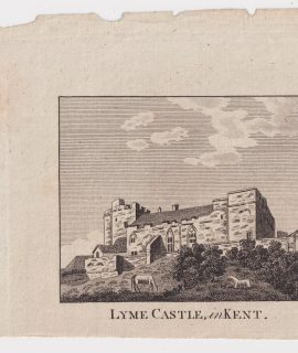 Antique Engraving Print, Lyme Castle, in Kent, 1790