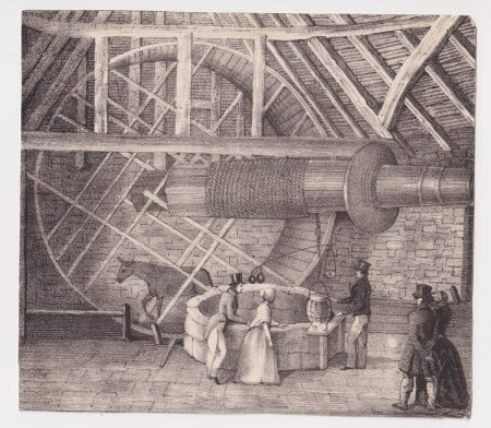 Antique Print, The Mill, 1860 ca.