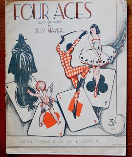 Four Aces, Suite for piano by Billy Mayerl, Keith Prowse & Co. London, 1930