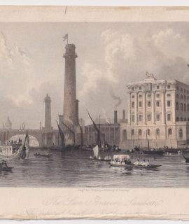 Antique Engraving Print, The Lion Brewery Lambeth, 1841