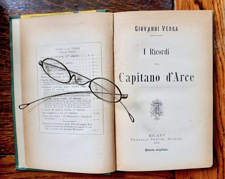 G. Verga, I ricordi del Capitano d'Arce, Milano, Treves, 1901