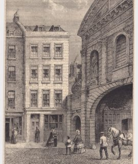 Antique Print, Child's Banking-House, Fleet Street, Next Temple Bar, 1880