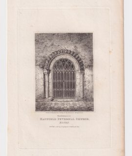 Antique Engraving Print, Hatfield Peverell Church, Essex, 1818