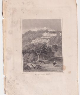 Antique Engraving Print, Seven Oaks, Kent, 1830