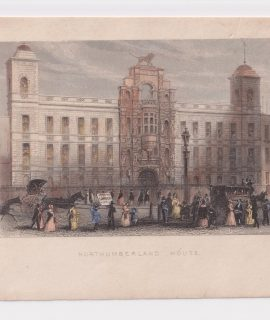 Antique Engraving Print, Northumberland House, 1850 ca.