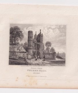Antique Engraving Print, Nether Hall, Essex, 1818