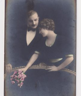 Vintage Romantic Post Card, 1930