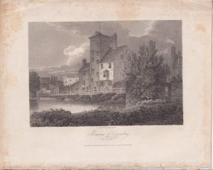 Antique Engraving Print, Remains of Canonbury, Islington, 1804