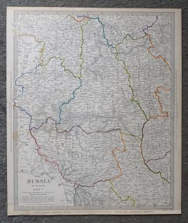 Antique Map, Russia in Europe, 1835